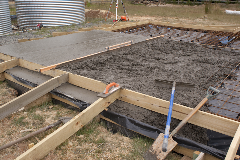 Laying the slab diy house for How do foundations work
